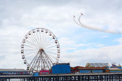 Breitling wing walkers at Blackpool air show Stock Images
