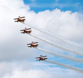 Breitling wing walkers Farnborough airshow 2016 Royalty Free Stock Photo