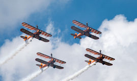 Breitling wing walkers Farnborough airshow 2016 Royalty Free Stock Photography