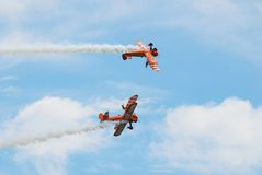 Breitling wing walking team Stock Photo