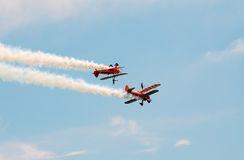 Breitling wing walking team Royalty Free Stock Photos