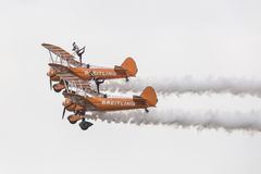 Breitling Wingwalkers (AeroSuperBatics) in Boeing-Stearman Model Stock Photos