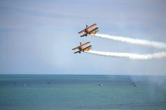 Breitling Wingwalkers Eastbourne Airshow Reino Unido Fotos de Stock Royalty Free