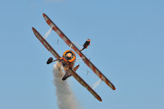 Breitling Wingwalkers. Breitling Wingwalker at the Flight to the past Air show, Kidlington 21 Aug 2011 Stock Photos