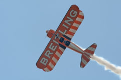 Breitling Wingwalkers. Breitling Wingwalker at the RIAT 2013 Air show, Fairford 20 Jul 2013 Stock Images