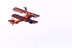 Breitling wingwalking Stock Image