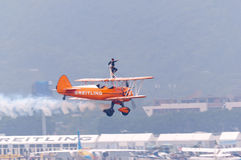 Breitling wingwalking Stock Photography