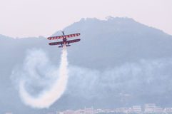 Breitling wingwalking Royalty Free Stock Photos