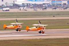 Breitling wingwalking team Stock Photos
