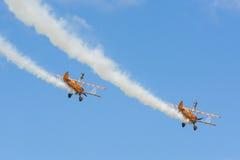 Breitlings-wingwalkers aerobatic Team Stockbilder