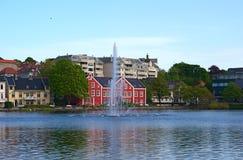 breivatnet挪威斯塔万格 免版税库存图片