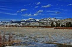 Brekcj falezy na Togwotee i szczyt Przechodzimy między Dubois i Jackson w Wyoming usa ja Zdjęcie Stock