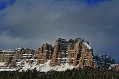 Brekcj falezy na Togwotee i szczyt Przechodzimy między Dubois i Jackson w Wyoming usa ja Fotografia Stock
