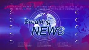 Brekend news_generic blauw-ROOD stock footage