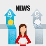 Brekend nieuws Stock Foto's