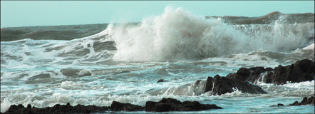 Brekende golven Royalty-vrije Stock Afbeelding