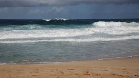 Brekende golven stock video
