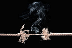 Brekende kabel Stock Afbeelding