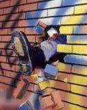 Brekende muur. Royalty-vrije Stock Foto's