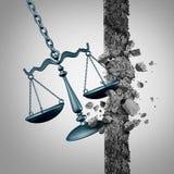 Brekende Rechtsgrond stock illustratie