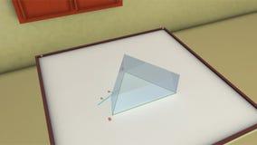 Breking van een prisma stock video