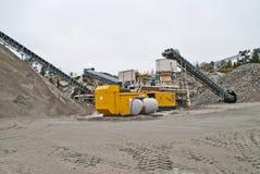 brekke的石击碎的工厂挖掘工厂1 库存照片