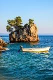 Brela岩石,克罗地亚 库存照片