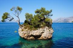 Το σύμβολο Brela, Κροατία στοκ εικόνες