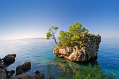 Brela. Beautiful coastline in brela, croatia Stock Image