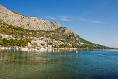 Brela. Coastline in old town omis, croatia Stock Image