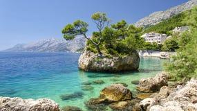 Brela auf Makarska Riviera, Dalmatien, Kroatien Lizenzfreie Stockfotos