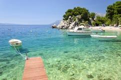 Brela auf Makarska Riviera, Dalmatien, Kroatien Stockbilder