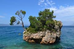 Brela (Kroatien) Arkivbild