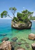 Brela, Makarska la Riviera, Dalmatie, Croatie Images stock