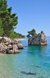 Brela, Makarska Riviera, Dalmatië, Kroatië Stock Fotografie