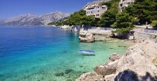 Brela - Makarska Riviera, Dalmatië, Kroatië royalty-vrije stock foto
