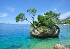 Brela,Makarska Riviera,Dalmatia,Croatia. The famous Rock of Brela,a Landmark of the Makarska Riviera in Dalmatia,croatian adriatic sea,croatia Stock Photo