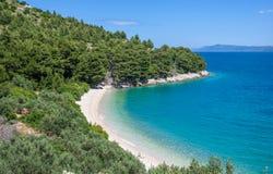 Brela,Makarska Riviera,Dalmatia,Croatia. Coastal Landscape near Brela at Makarska Riviera in Dalmatia,croatia, adriatic sea,croatia Stock Photography