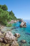 Brela,Makarska Riviera,Dalmatia,Croatia Stock Photos