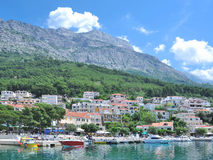 Brela,Makarska Riviera,Dalmatia,Croatia Royalty Free Stock Photos