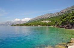 Brela, Makarska Riviera, Dalmatien, Kroatien Stockfotos