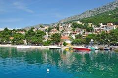 Brela, Makarska Riviera, Dalmatien, Kroatien Lizenzfreies Stockbild