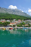 Brela, Makarska Riviera, Dalmatien, Kroatien Stockfotografie
