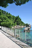 Brela, Makarska Riviera, Dalmatien, Kroatien Lizenzfreie Stockfotografie