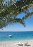 Brela, Makarska Riviera, Dalmatien, Kroatien Stockbild