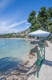 Brela, Makarska Riviera, Dalmatien, Kroatien Lizenzfreies Stockfoto