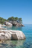 Brela, Makarska Riviera, Dalmatien, Kroatien Lizenzfreie Stockfotos