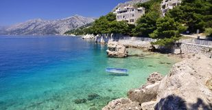 Brela - Makarska Riviera, Dalmatien, Kroatien Lizenzfreies Stockfoto