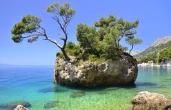 Brela op Makarska Riviera, Dalmatië, Kroatië royalty-vrije stock foto's