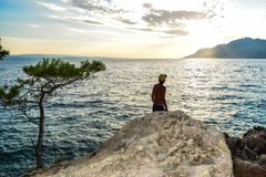 Brela rock, Croatia royalty free stock photo